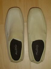Men's cream leather moccasin shoes by Aldo. UK size: 7 / EU size 40.  Brand new.