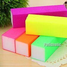 Fluorescent Color Nail Art Buffer Sanding Block File Tool Tips(Random Color)