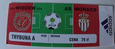 Ticket for collectors UEFA Widzew Lodz - AS Monaco 1999 Poland France