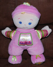 "Baby's 1st Doll Pink Girl Fisher-Price 2008 Lovey Plush Toy Rattles 12"" Plush"