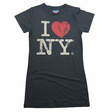 Vintage Junk Food I Heart ❤️ Heart NY New York Black T-shirt NWOT New Jrs Small