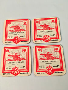 Arsenal Football Programme Collectors Great New COASTER Set  great gift idea