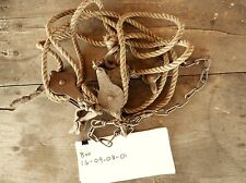 Antique Rope Hoist Pulley Block & Tackle ~ Industrial Barn Farm Decor