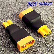 QTY-(2) Male XT-60 to Female XT-30 Wireless Connector Adapter Turnigy Drone FPV