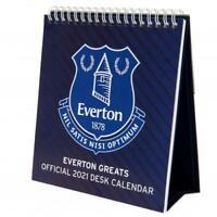 Everton FC Official Desktop Easel Calendar 2021 Christmas Gift Secret Santa