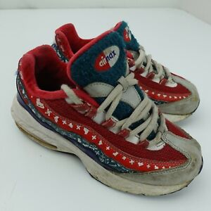 Nike Air Max 95 'Ugly Christmas Sweater Shoes Kids Size 13C Red Green CT1594 100