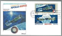First Day Cover - USA - Apollo/Soyuz - 15 July 1975 - Scott #1569 and #1570