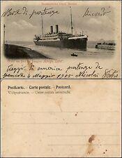 """Norddeutscher Lloyd, Bremen, gruss von Bord des dampfer """"Konigin Luise"""""""