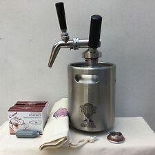 Nitro Cold Brew Coffee 2L Mini Keg Stout Tap Faucet 8g N2O Cartridges Cotton Bag