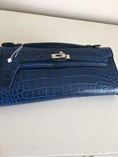 Blue Clutch Bag With Shoulder Strap