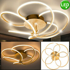 Luxury LED ceiling lamp dining room lamp leaf gold spotlights arches swinging