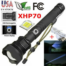 Ultra Lumens Zoomable XHP70 LED USB Rechargeable Flashlight Torch Super Bright