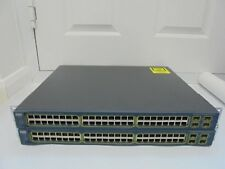 X 2 CISCO WS-C3560-48PS-S POE SWITCH, CCNA CCNP CCIE LAB