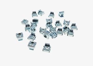 """25 Pack 1/4-20 Self-Retaining Cage Nuts - 3/8"""" Panel Hole Size     BFC7988-1420"""