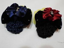 Lot of 2 Beautiful Hair velvet Clips net red & navy free ship