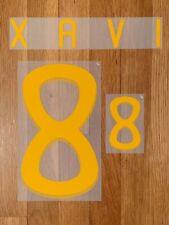 XAVI 8 - 2010 / 2011 SPAIN - Home / Away - Official Sporting ID Name-Set