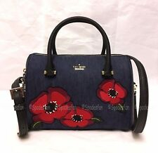 Kate Spade PXRU7978 Cameron Street POPPY Large Lane Satchel PORT BLUE Denim NWT