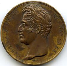 Charles X Medaille Denkmal Für Die Opfer aus Quiberon 1825