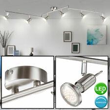 drehbare Spots grau matt LED Schlafzimmerlampen Designlampe Deckenlampe 6-fl