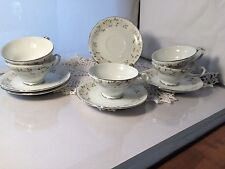SHEFFIELD FINE CHINA JAPAN CLASSIC PATTERN CUP&SAUCERS (5) (P1611A)