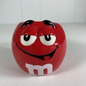 M&M's 2007 Red Chocolate Candy Large Mug. Peanut & Milk Chocolate  VGC