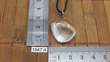 Pendentif CRISTAL DE ROCHE XL + cordon reglable mineraux pierre roulée reiki