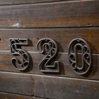 1PC House Sign Number Cast Iron Digital Metal Door Plate Plaque Home Decor DIY