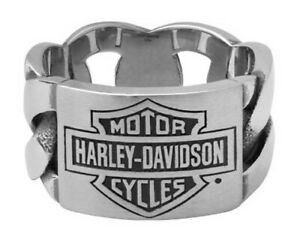Harley-Davidson Men's Stainless Steel Chain Link Wedding Band 271 / HSR0072