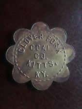 Coal Scrip Token Clover Fork Coal Co. Harlan Co. Kitts Ky. 10 Cent