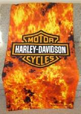 New Large Harley Davidson Flames Shield Motorcycle Bath Beach Towel Biker Gift