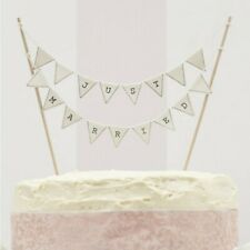 Wedding Cake Topper Bunting Mr & Mrs Just Married Ginger Ray Vintage Lace