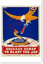 Salvage Scrap To Blast The Japanese Thirteenth Naval District WWII WPA Poster
