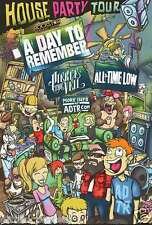 "A DAY TO REMEMBER / ALL TIME LOW /PIERCE THE VEIL ""2014 HOUSE PARTY TOUR"" POSTER"