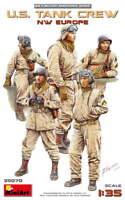 Miniart 35070 - 1/35 scale U.S. Tank Crew WWII NW Europe 5 Figures model kit