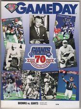 CLEVELAND BROWNS vs NEW YORK GIANTS Program 12-4-1994