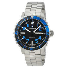 Fortis Marine Master Black DIal Automatic Mens Watch 6701545MG