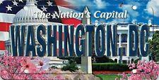 Washington D.C. The Nation's Capital License Plate Souvenir Fridge Magnet