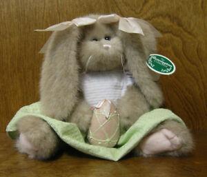 Bearington Plush #4171 MEG & EGG,   NEW/Tag From Retail Store, Jointed Rabbit