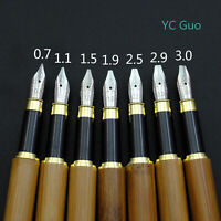 Bamboo Stub Nib Fountain Pen 7 Nib Size For Choice Including An Italic Nib