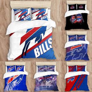 Buffalo Bills Bedding Set 3PCS Duvet Cover Pillowcases Twin Full Queen King Size