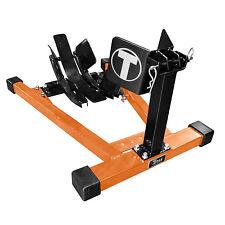 Titan Bulldog Moto w/ Spring Loaded Cradle Motorcycle Wheel Chock - Orange/Black