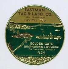 Unused 1939 Golden Gate International Exposition GGIE Decal, Eastman Tag & Label