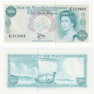 Isle of Man 50p Banknote (1979-) P.33 - UNC.