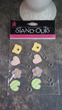 Stand Outs Scarpbooking Embellish Baby Pins Sticker Qty 8 New Scarpbook Art DIy
