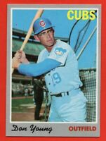 1970 Topps #117 Don Young NEAR MINT/MINT Chicago Cubs FREE SHIPPING