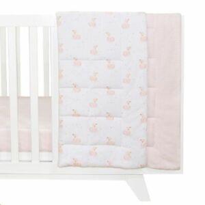 Living Textiles Swan Cot Comforter Pink