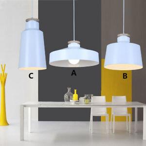 White Pendant Lights Bar LED Lighting Kitchen Wood Ceiling Lamp Bedroom Light