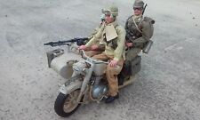 21st Century Toys 1/6  German Motorcycle with Sidecar  (Afrike Korps)  -  Rare