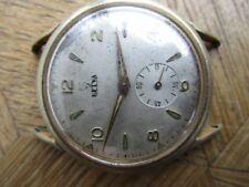 Vintage Gold-plated HELVA Manual Watch. Cal.  Unitas 198 For parts.