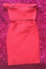Brand New Sexy Bandage bodycon Rayon Red Dress Boobtube Size 6-8
